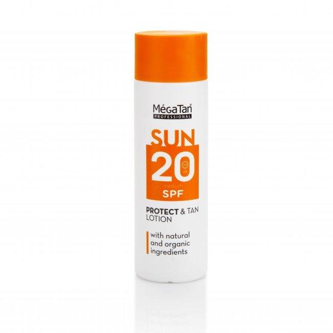 Слънцезащитен лосион MegaTan Sun SPF20 с натурални съставки, 180мл